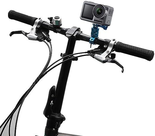 Aleación Aluminio Motocicleta Manillar De Bicicleta Mount Holder Abrazadera para Gopro Hero