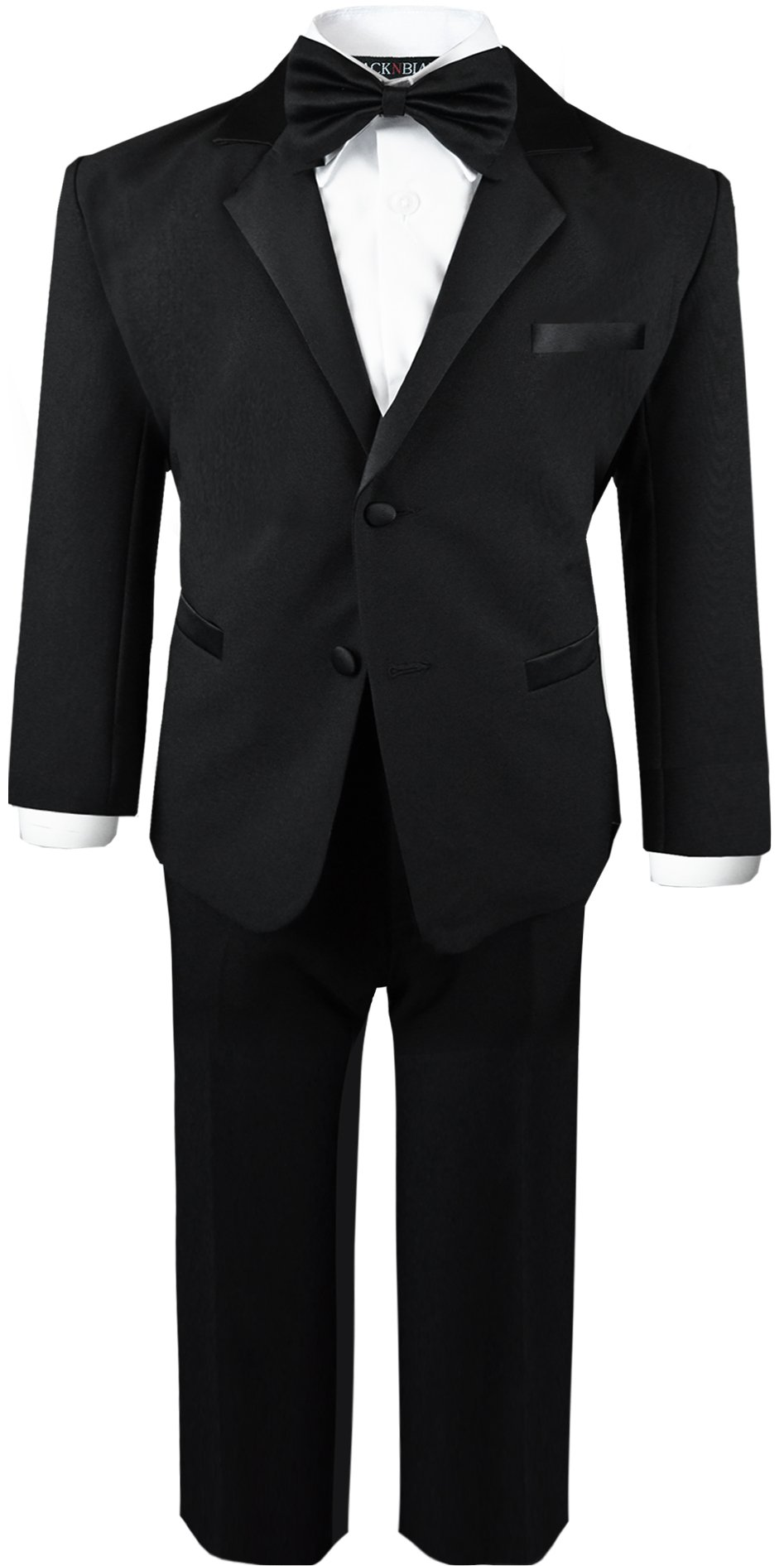 Boys Infant and Toddlers Black Tuxedo Size X-Large by Black n Bianco