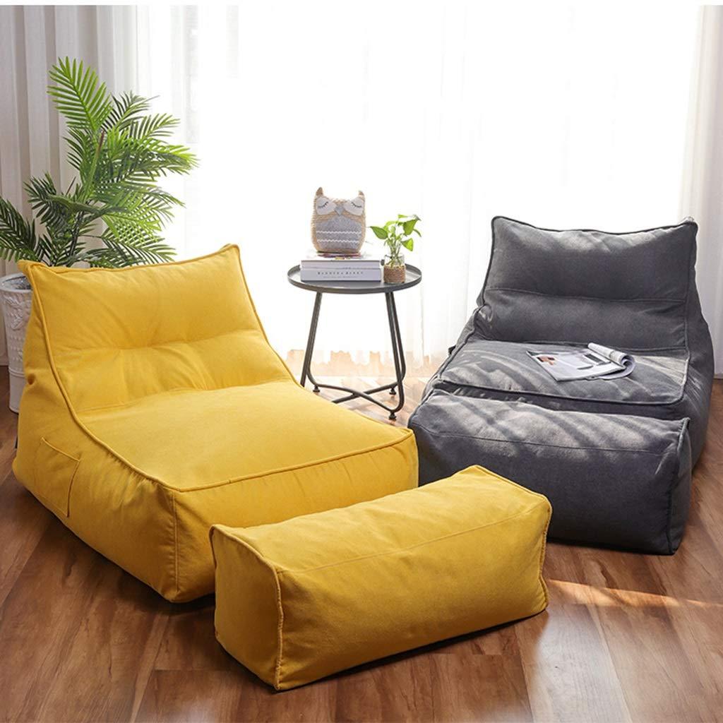 Amazon.com: Puf Lazy Couch Tatami simple dormitorio sofá de ...