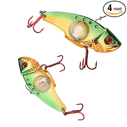 Steady New Fishing Bait Electronic Metal Fish Lure Led Light Lamp Underwater Hook Spoon Suitable For Salt Or Fresh Water Sports & Entertainment Fishing
