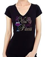 Wine Princess Rhinestone/ Stud Women's T shirts
