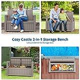 Cozy Castle Storage Bench Deck Box, 184L/49Gal Deck