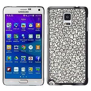 Caucho caso de Shell duro de la cubierta de accesorios de protección BY RAYDREAMMM - Samsung Galaxy Note 4 SM-N910 - Faces Wallpaper Never Ending