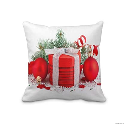 new home christmas decorative pillow case holiday christmas ornaments gift ribbon throw pillow cover happy new - Christmas Decorative Pillows