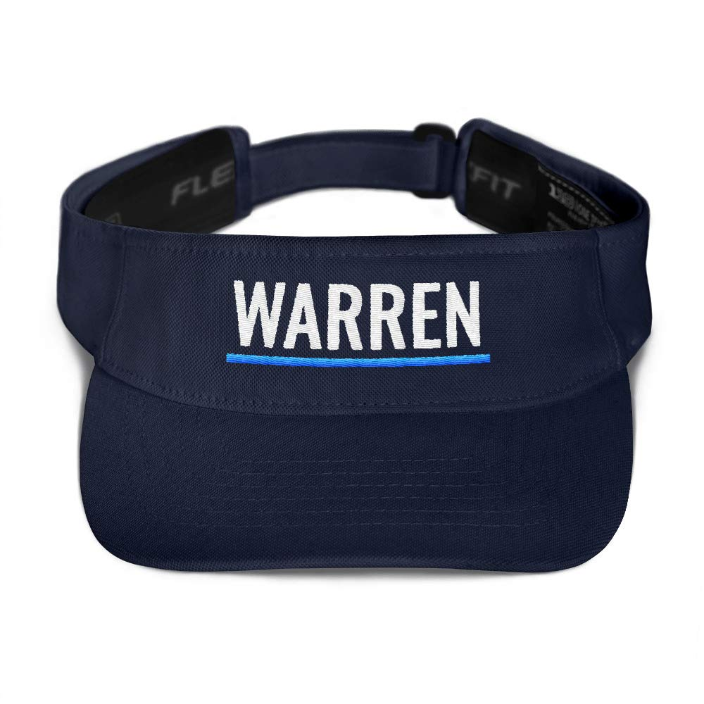 Elizabeth Warren for President Visor | 2020 Election Campaign Flexfit Golf Hat Navy by JJs Marketplace