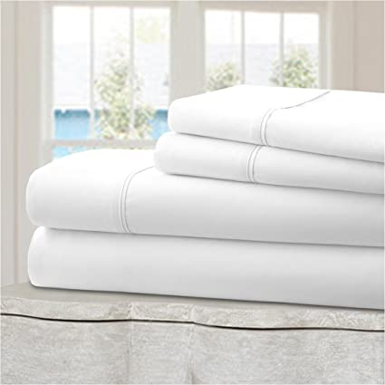 Ideal Linens Bed Sheet Set   Velvety Double Brushed Microfiber Bedding   Hotel  Quality   Comfortable