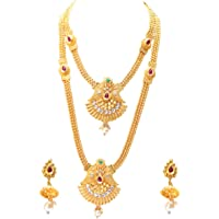 Swarajshop Copper Gold-Plating Necklace Set for Women's