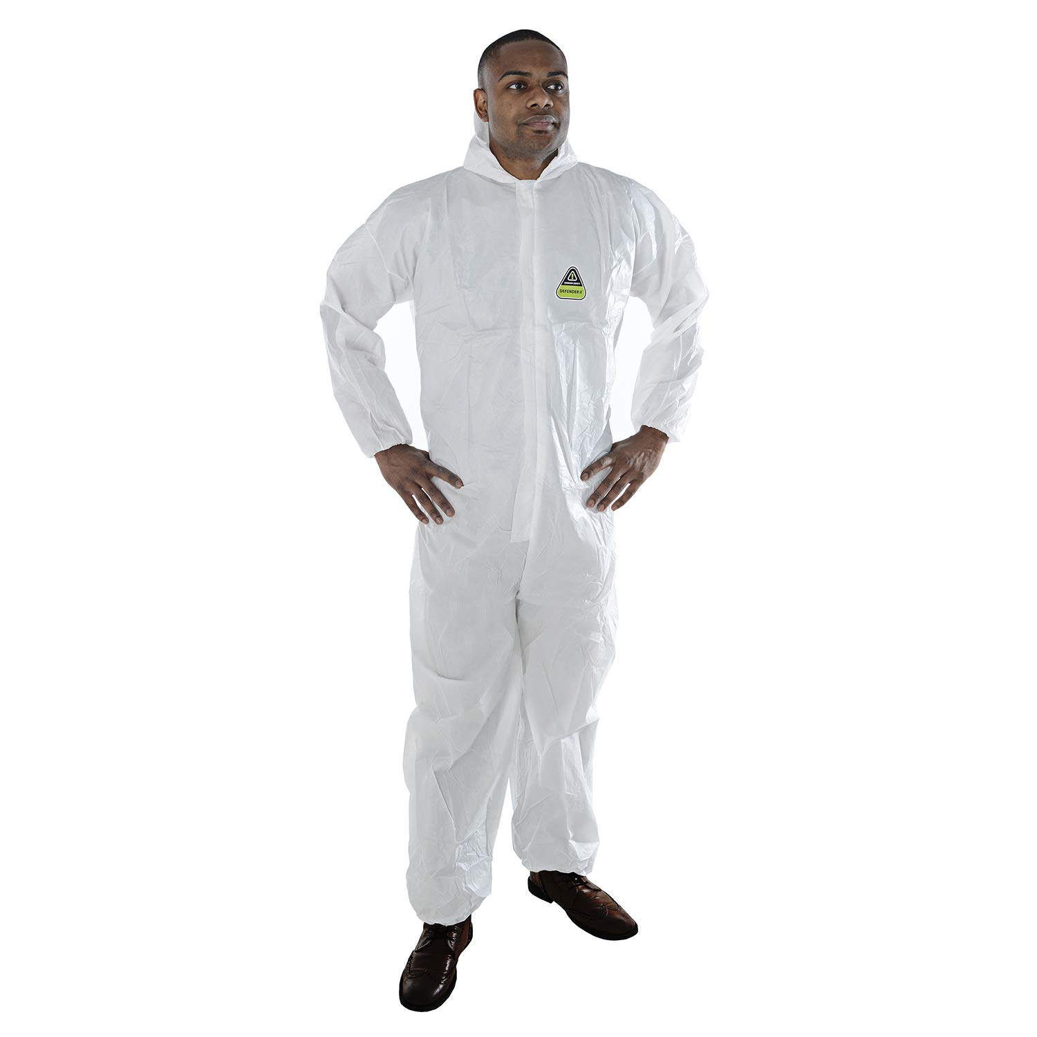 Cordova Safety Products Defender II Standard Microporous Disposable Coveralls with Hood - 25 Pack - X-Large - White