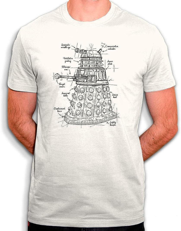 Tee Shirt Dalek en Doctor Who – Camiseta ecológica para hombre, color blanco roto: Amazon.es: Ropa y accesorios