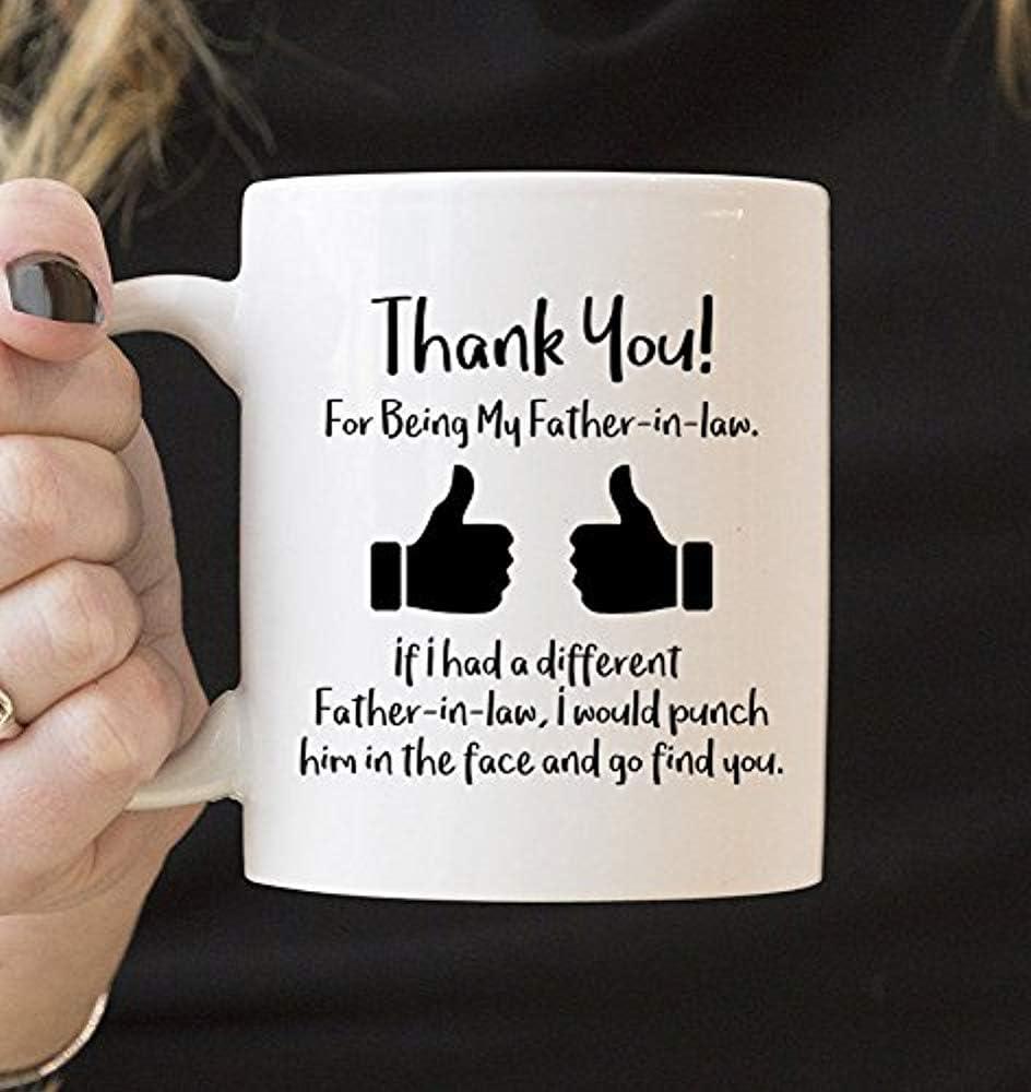 Para la taza de la familia de la taza del suegro, taza de agradecimiento, taza del suegro, taza, taza para padres, ideas de regalo 2018