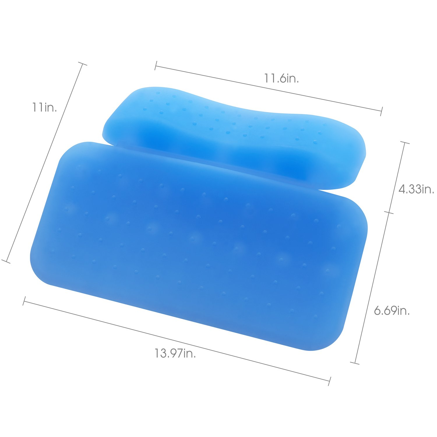 Luxurious Silicone Bathtub Pillow 14'' x 10'',2-Panel Design for Shoulder & Neck Support. Non-Slip, Extra Thick, Soft and Large, Anti-bacterial by Silicone. Fits Any Size Tub. Luxury Spa Tub Pillows. by Universal product (Image #3)