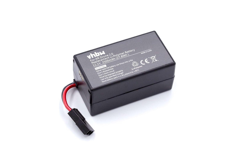 Batería de polímero de Litio 2500mAh (11.1V) para dron, multicóptero, cuadricóptero Parrot AR Drone 1.0, AR Drone 2.0, AR Drone 2.0HD como PF070056.