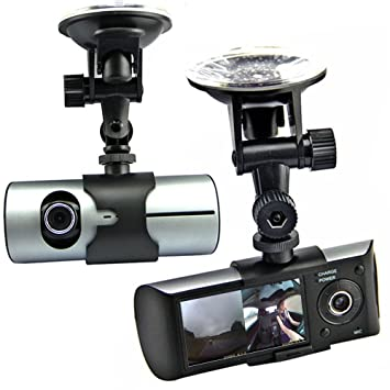 Indigi 6,86 cm LCD HD cámara Dual DVR del coche caja negra w/