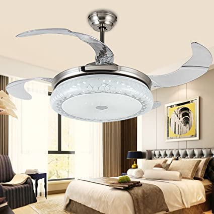 RS Lighting 42 inch Led Bladeless Ceiling Fan with Chandelier Light ...