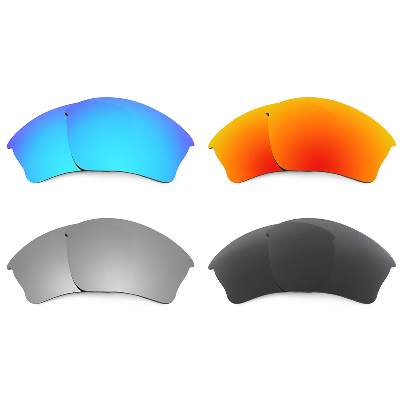 Revant Replacement Lenses for Oakley Half Jacket XLJ 4 Pair Combo Pack K018 by Revant