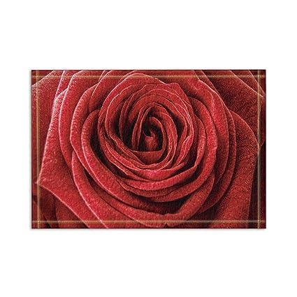 kotom tapetes de bao florales rosas rojas grandes absorbente entradas de piso antideslizante alfombra de - Fotos De Rosas Rojas Grandes