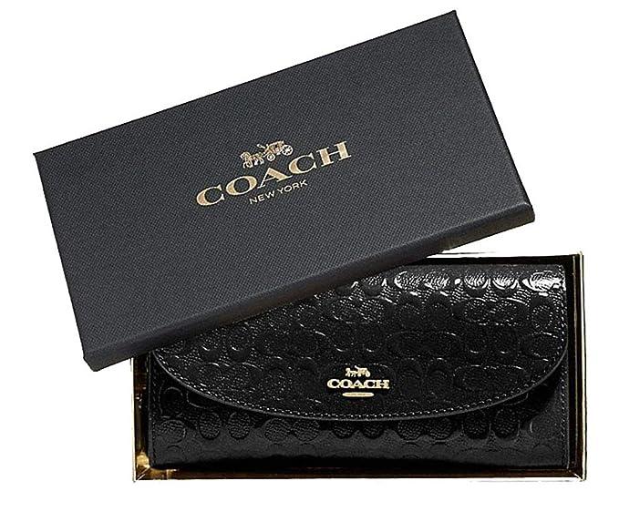 Amazon.com: Coach - Cartera de piel con sobres finos para ...