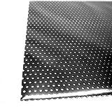 アルミパンチング板 丸型 A-10 100×200×0.5mm ブラック