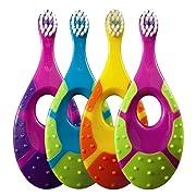 Jordan Step 1 Baby Toothbrush, 0-2 Years, Soft Bristles, BPA Free (4 Pack)