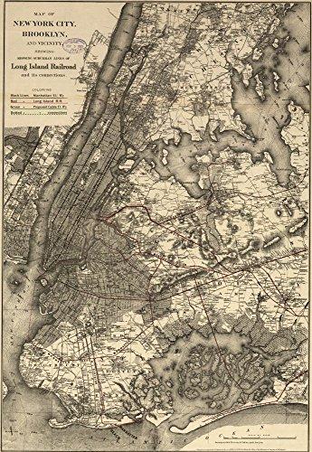 vintage map new york - 1