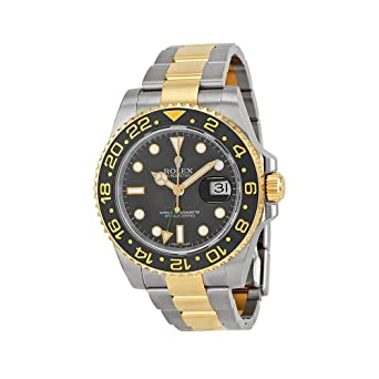 Amazon Com Rolex Gmt Master Ii Black Automatic Stainless Steel And