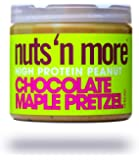 Nuts 'N More Chocolate Maple Pretzel Peanut Spread, High Protein, Great Tasting, All Natural Sports Nutrition, 16 oz Jar