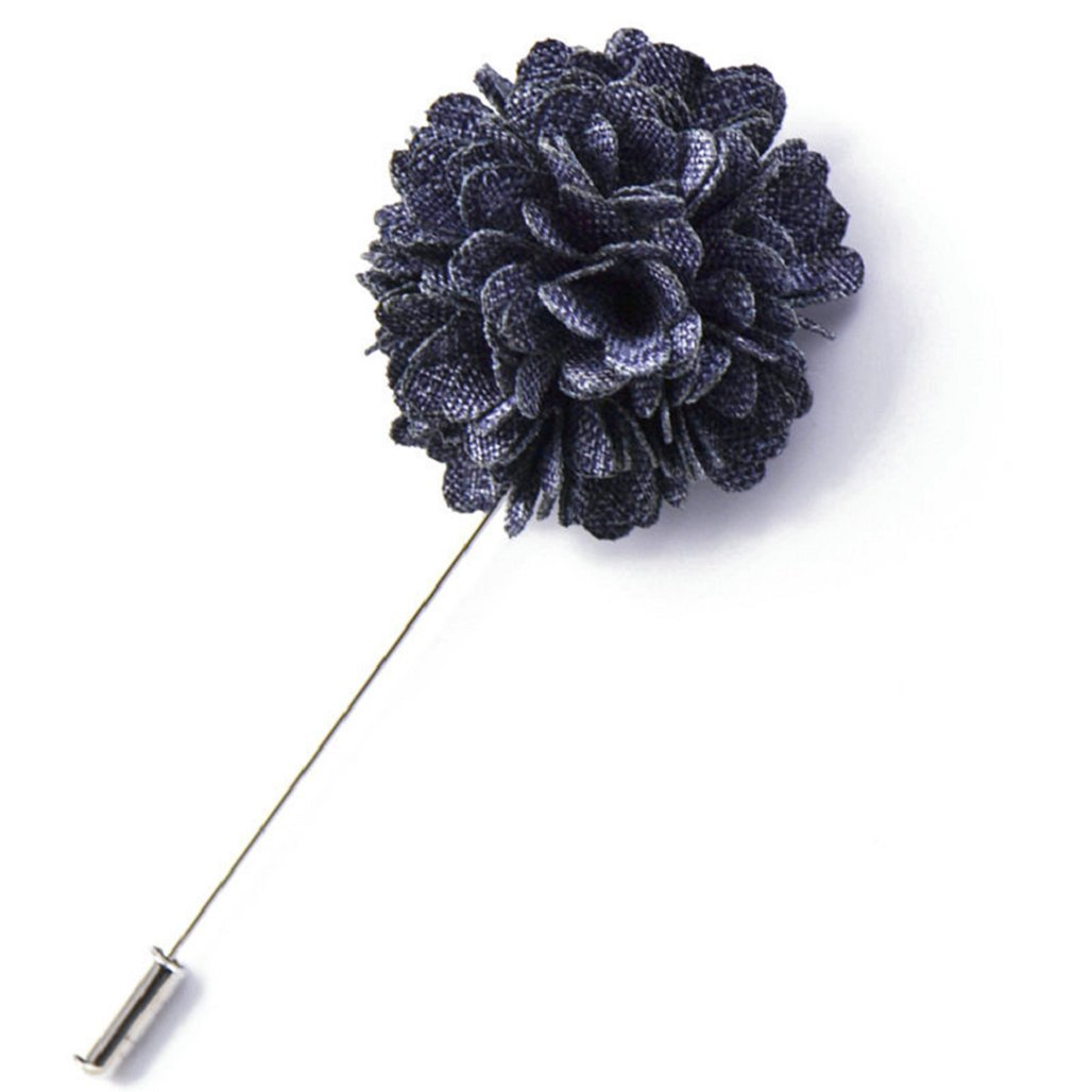 Mens Suit Tuxedo Flower Lapel Stick Pin Brooch Wedding Party Prom Accessory