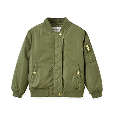 Amazon.com  LJYH Baby Toddler Boys  Military Flight Green Bomber ... 5a3b614654f