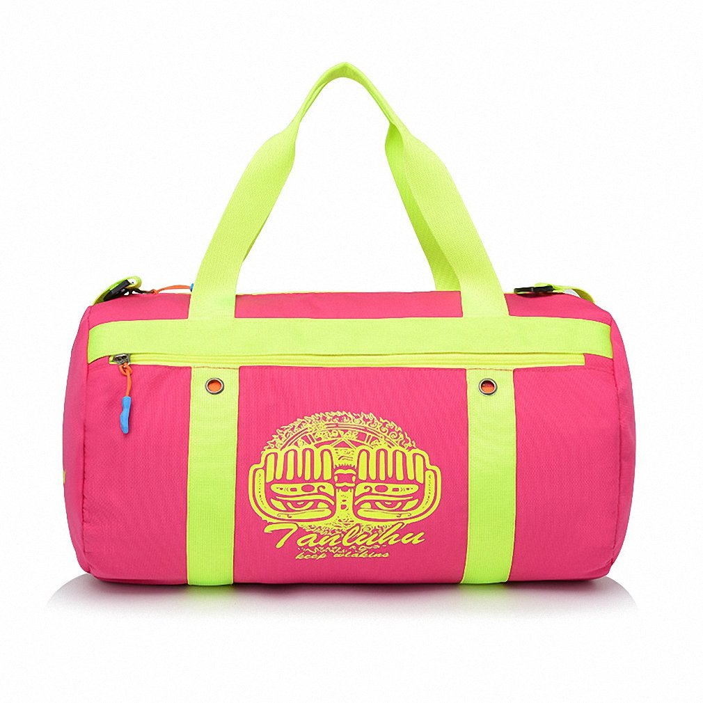 Swimming bag dry and wet separation large capacity beach bag men and women package bag portable waterproof travel outdoor package Rose red 44 24 24CM
