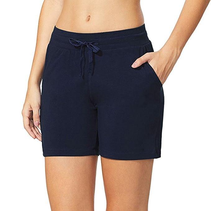 JYJM Damen Casual Taille Shorts Damen Yoga Shorts Damen Strand Shorts Damen  Fitness Shorts Damen Hause Shorts Damen Casual Sportshorts Damen  Schlafhosen ... 2df8239f70