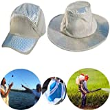Anti-UV Sunstroke-Prevented Cooling Hat Arctic Hat, Arctic Hat Sunscreen Cooling Hat Heatstroke Protection Cooling Cap Men Women Fishing Hat - Wide Brim UV Protection White