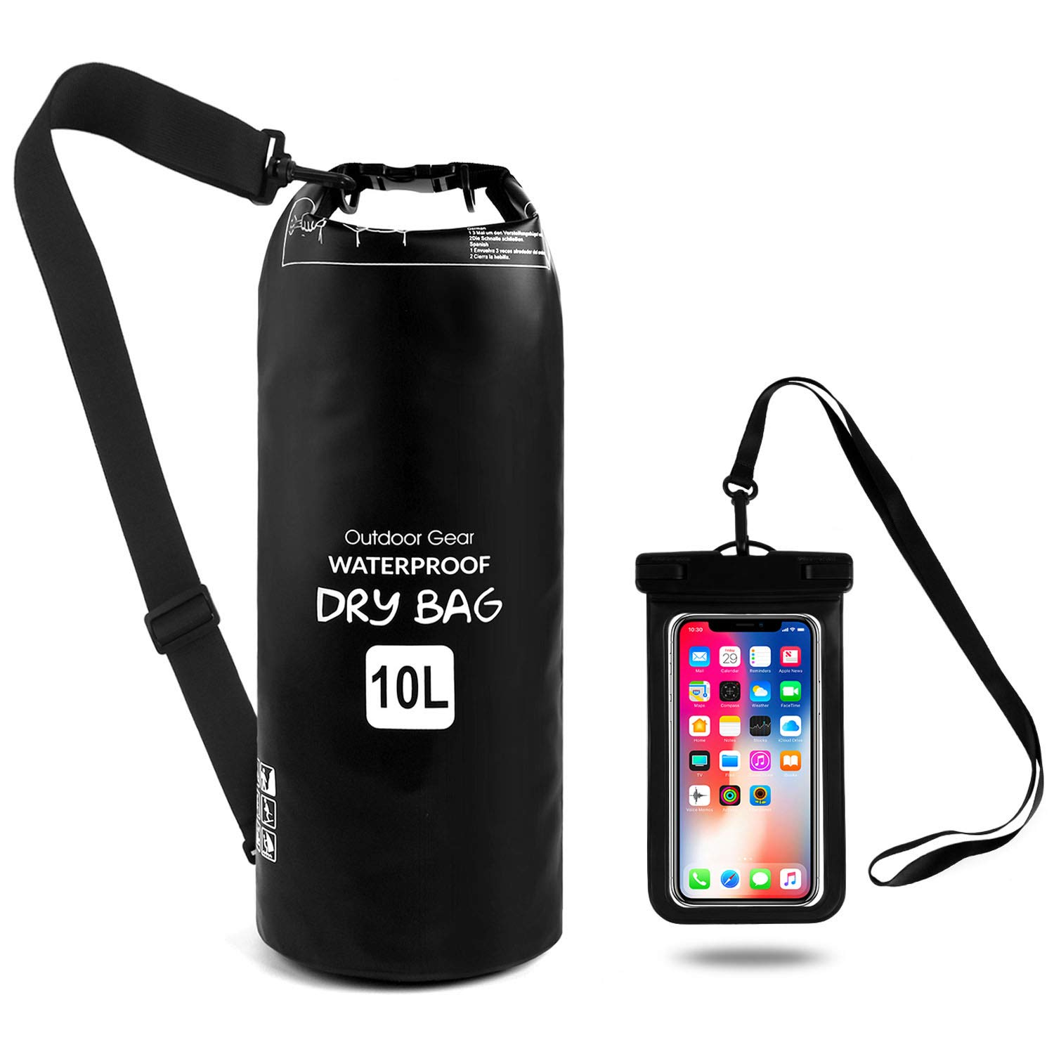 Waterproof Dry Bag Waterproof Phone Pouch, Roll Top Dry Compression Sack Keeps Gear Dry Sports Outdoors Suits for Swimming, Hiking, Climbing, Boating, Fishing by CASA CLAUSI.