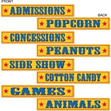 Beistle 54304 4-Pack Circus Sign Cutouts, 4-Inch by 24-Inch