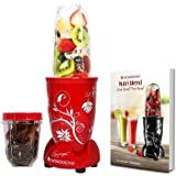 Wonderchef 400 Watt Nutri-Blend Juicer Mixer Grinder (Red) With Recipe Booklet