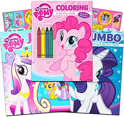 - Amazon.com: My Little Pony Coloring And Activity Book Set With Stickers --  3 MLP Books Filled With Games, Puzzles, Stickers And Activities (Party  Supplies Pack): Toys & Games
