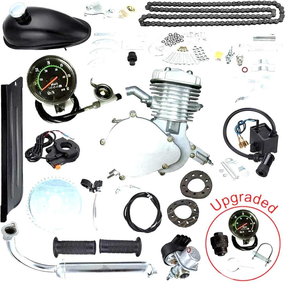 2-Takt Bicycle Transformer 80cc Fahrrad Moteur Motorisierte Engine Kit 45km//h