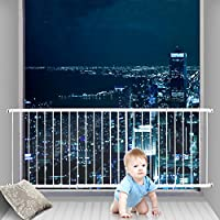 Fairy Baby Child Window Guards for Children Safety Window Gate Security Bars White,Fit 87.4-112.2 Inches Wide,3-7 Days Delivered