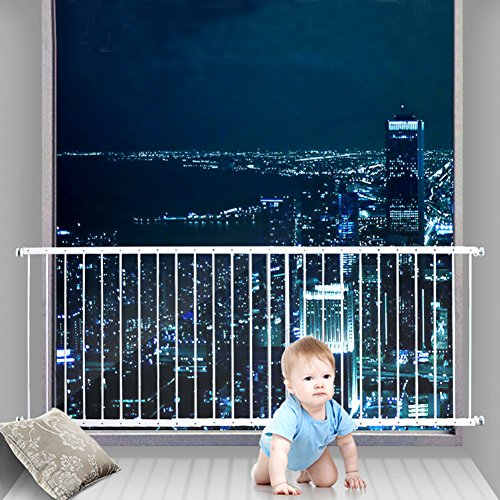 Fairy Baby Window Guards for Children Hole-Free Installation Todder Safety Window Gate Bars White,61.41