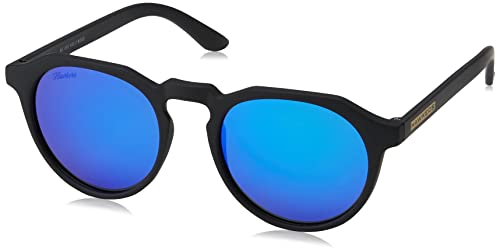 Hawkers Carbon Black Sky Warwick, Gafas de Sol Unisex, Negro/Azul