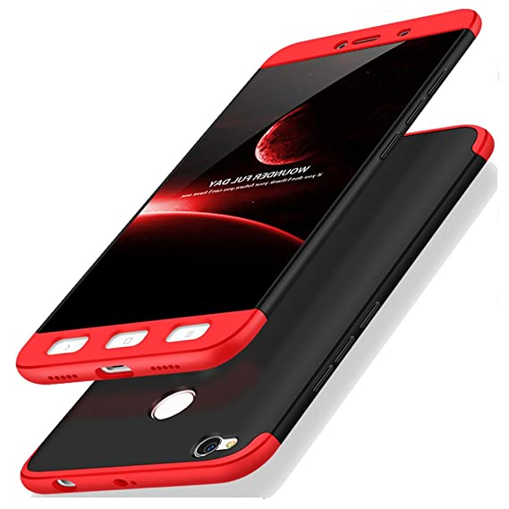 finest selection 3a54f 28cad Kapa Double Dip Full 360 Protection Back Case Cover Compatible For Xiaomi  Redmi 4 (Black and Red)