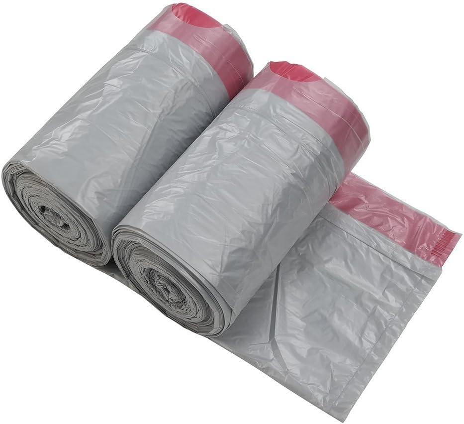 Gitany 10 L Bolsas de Basura con cordón, 125 Bolsas, Gris Bolsa para Papelera