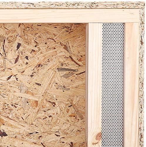 Terrario: Madera Terrario para Reptiles frontal ventilación para serpientes y lagartos 100 x 50 x 50 cm alta calidad Terrario Madera de OSB - Front Vent: Amazon.es: Productos para mascotas