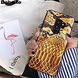 MISC Luxury Brown Snakeskin Galaxy S6 Edge Case Python Texture Snake Skin Phone Cover Snake Pattern Wild Animal Fashion Stylish Protective Shockproof Slim Soft, TPU