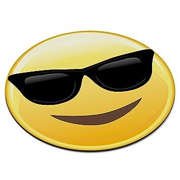 Emoji Sunglasses Cool Smiley Face Circular Pc Computer Mouse Mat Pad