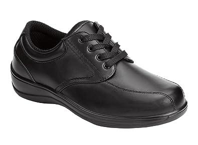 ORTHOFEET Orthotic BLACK Lake Charles Lace-Up LEATHER Inserts Shoes SIZE 9.5 XW