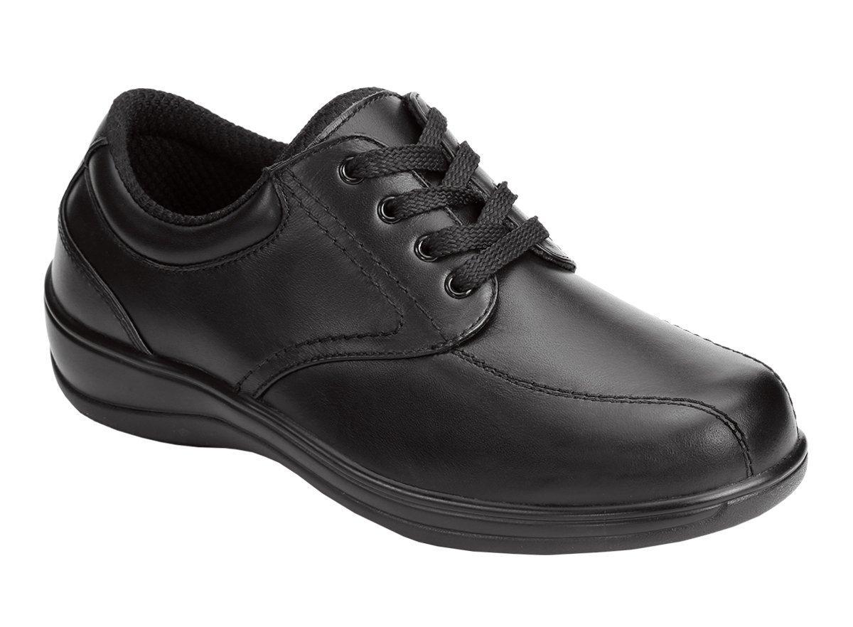 Orthofeet Lake Charles Cmofort Orthopedic Plantar Fasciitis Diabetic Womens Walking Shoes Black Leather 10 M US