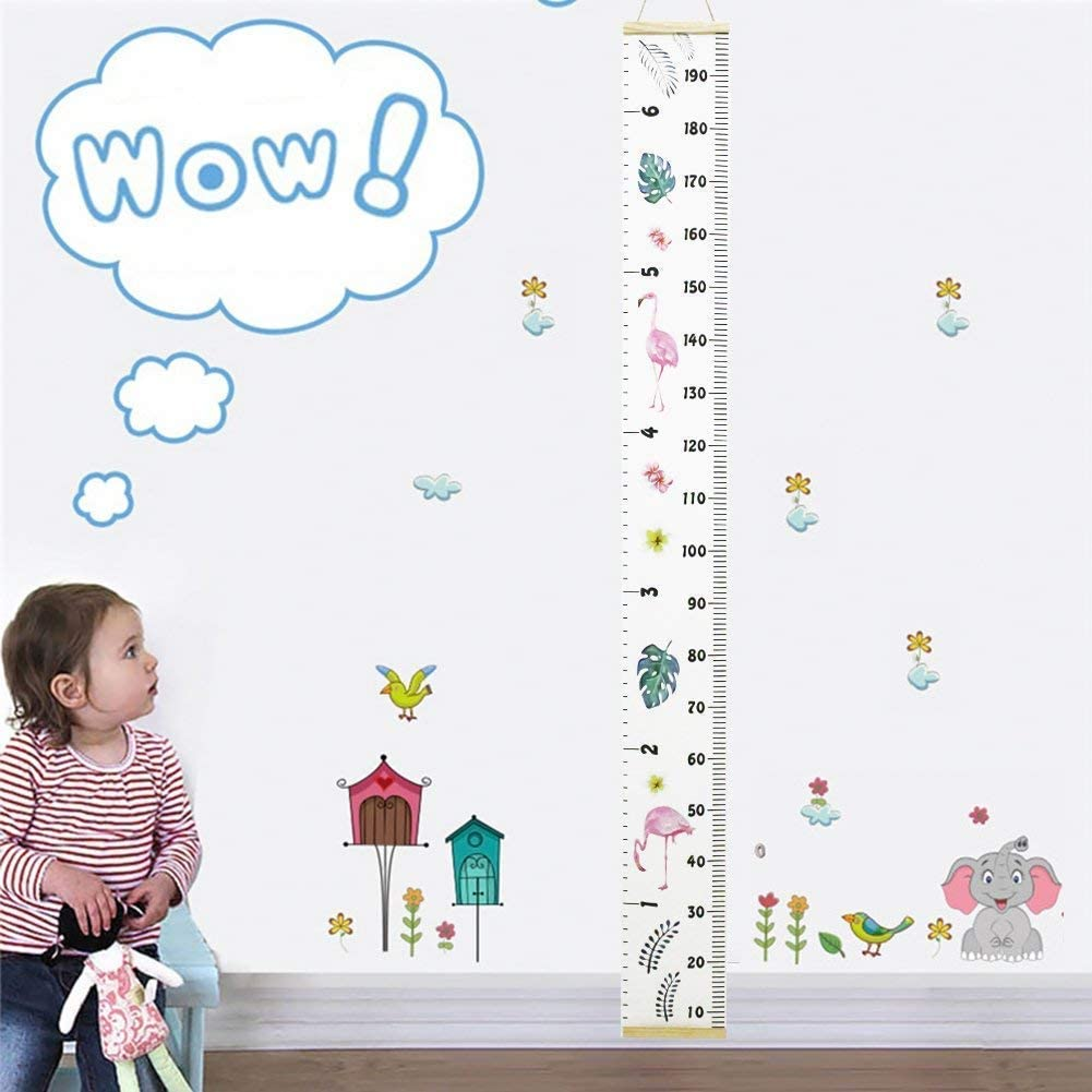 WANDIC Growth Chart Stencil 6 Pcs Translucent Kids Height Growth Chart Measuring Kids Height Wall Decor for DIY Craft Ruler Recording Kids Height Growth