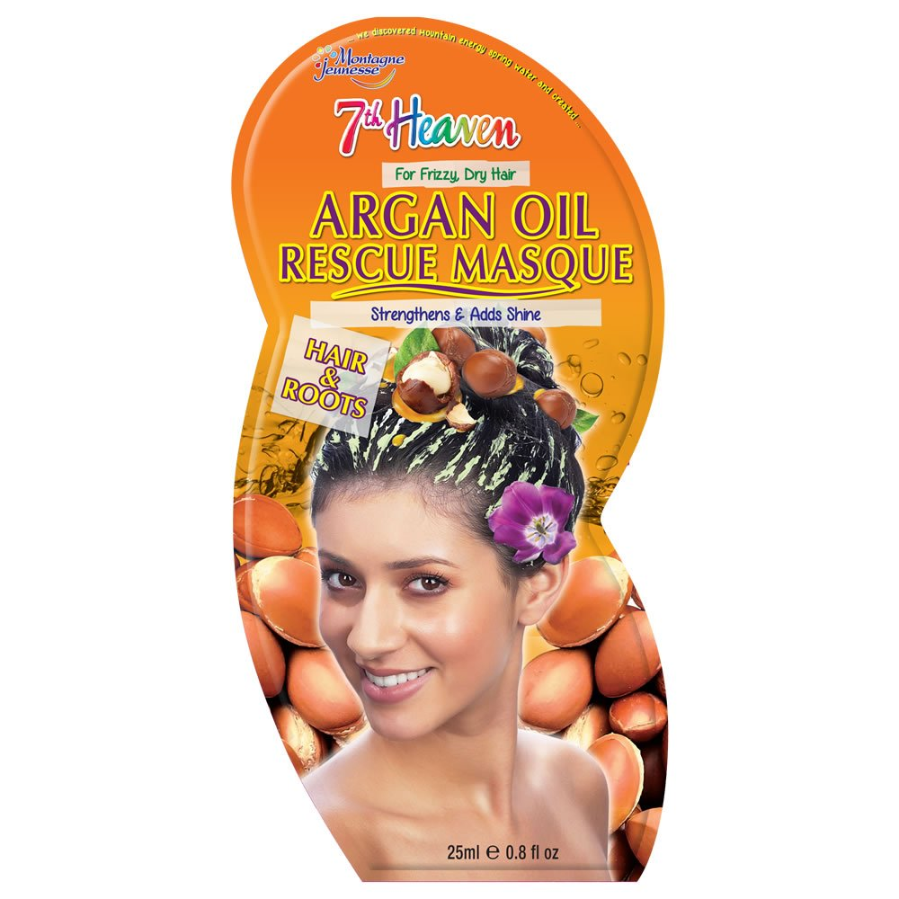 7th Heaven Argan Oil Hair Rescue Mask for Strength and Shine Montagne Jeunesse TJ9166