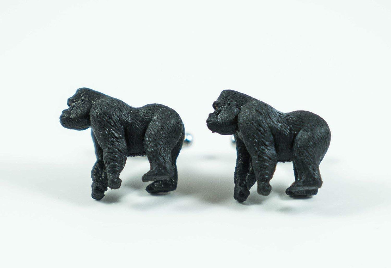 Gorilla Cufflinks Jewelry Sterling Silver Handmade Gorilla Cufflinks GO4-CL