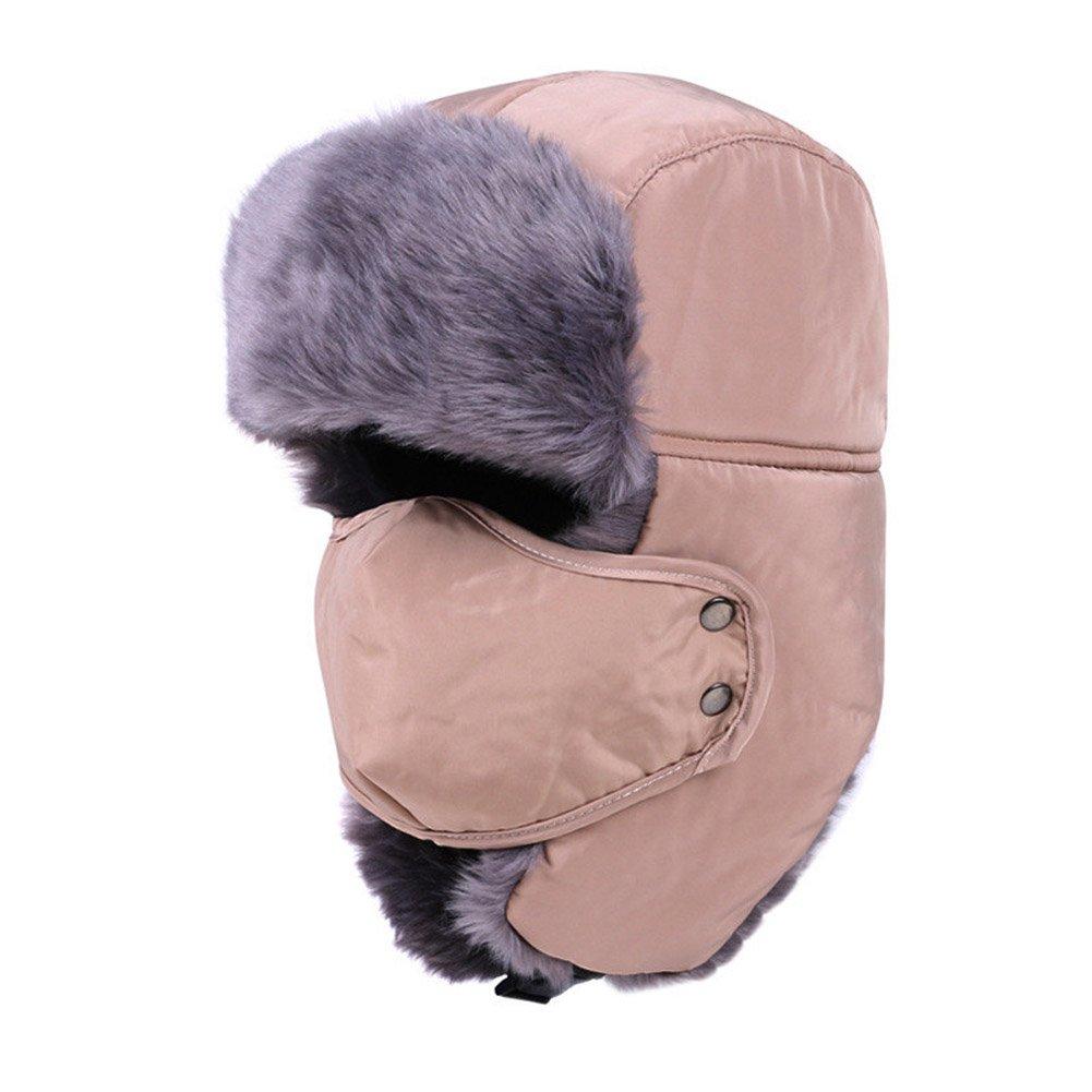 6bd20e19a45 Amazon.com  BAOBAO Winter Unisex Trooper Trapper Hat Ushanka Russian  Hunting Cap Earflap Windproof Mask  Sports   Outdoors